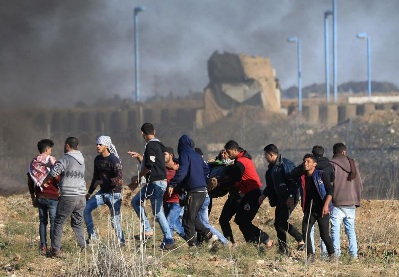 إصابة شابين برصاص الاحتلال شرق خانيونس