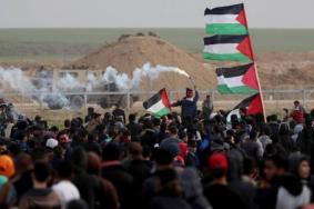 37 إصابة خلال قمع الاحتلال المشاركين في مسيرات العودة