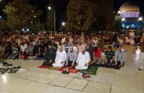 قيام ليلة 29 رمضان في باحات المسجد الأقصى