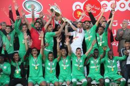 """""""الأخضر"""" الرفحي بطلاً لكأس غزة"""