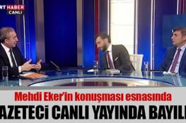 إعلامي تركي يفقد الوعي على الهواء