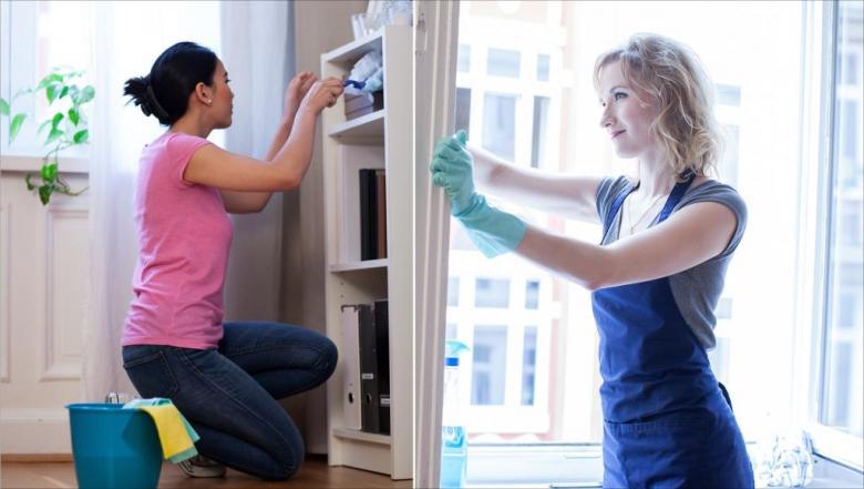 أعمال التنظيف المنزلية بوضعية غير ملائمة تسبب آلام الظهر