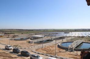 افتتاح المحطة الرئيسية للصرف الصحي شرق البريج