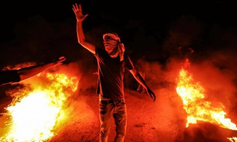 تواصل فعاليات الإرباك الليلي شرق غزة