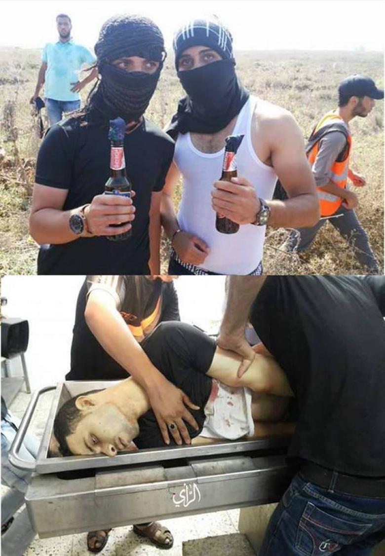 صورة الشهيد أحمد الهرباوي قبل استشهاده بلحظات قرب موقع ناحل عوز شرق غزة