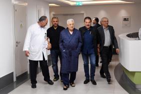 لهذا السبب زار عباس المستشفى الاستشاري في رام الله