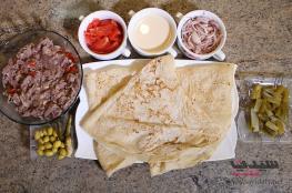 وجبة شاورما اللحمة خطوة بخطوة