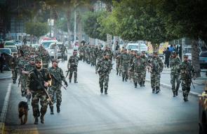 مسير عسكري للواء الشمالي بقوات الأمن الوطني