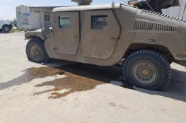 """الاحتلال يزعم إصابة مركبة عسكرية في """"غلاف غزة"""""""