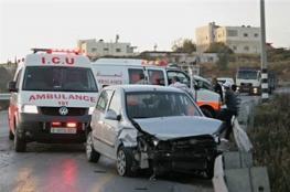 أربع إصابات في حادث سير جنوب نابلس