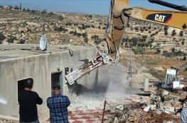 الاحتلال يهدم منزلًا في رام الله بحجة عدم الترخيص