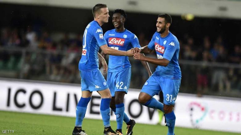 نابولي يمر بسهولة إلى مجموعات دوري أبطال أوروبا