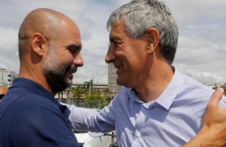 مدرب برشلونة يلتقي غوارديولا بعد هزم الريال.. وهذا ما دار بينهما؟