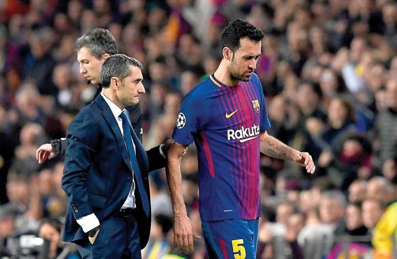 بوسكيتس يُعاني في برشلونة