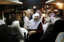 67 من أهالي أسرى غزة يزورون أبنائهم في نفحة
