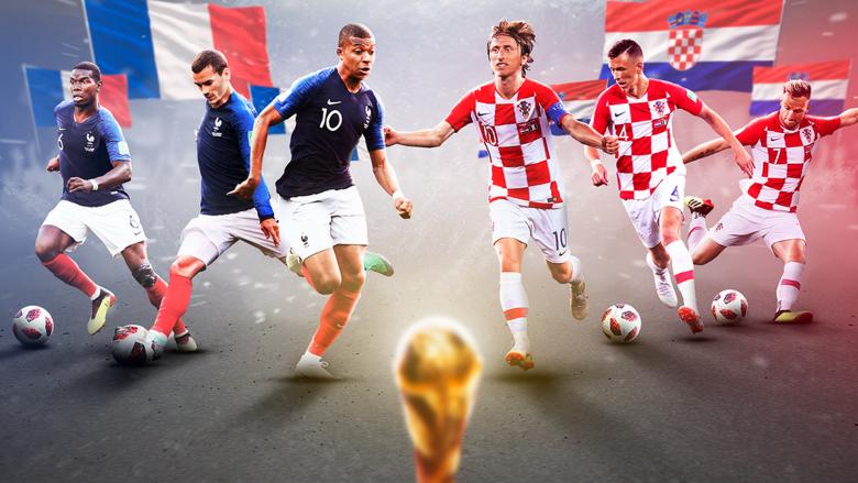 نهائي كأس العالم 2018 بين فرنسا وكرواتيا بلغة الأموال
