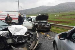 إصابة 8 مواطنين جراء حادث سير في نابلس