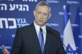 غانتس: ضعف نتنياهو ضد حماس جلب موجة رعب للضفة
