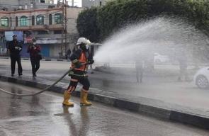 حملة غسل وتعقيم للمرافق العامة برفح لمواجهة