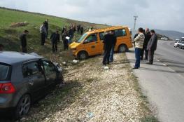 3 إصابات في حادث سير جنوب غرب جنين