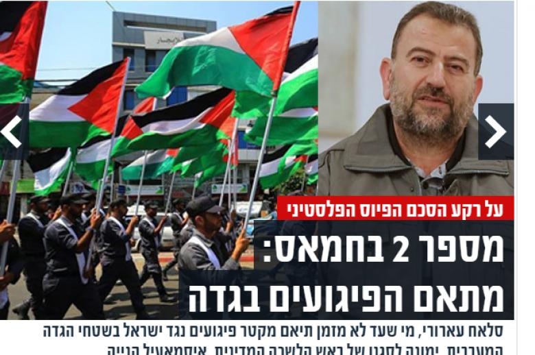 قلق إسرائيلي من موقع العاروري في قيادة حماس