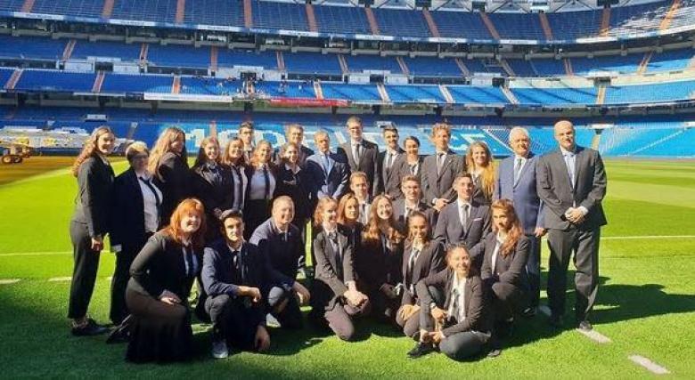 ريال مدريد يستضيف مجموعة من الشبان الإسرائيليين