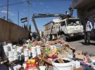 إتلاف 700 كغم مواد غذائية ومنظفات منتهية الصلاحية في أريحا