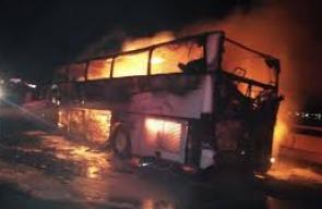 مصرع 30 معتمرا في حادث مروري أدى إلى إشتعال الحافلة
