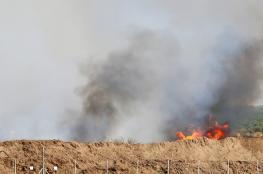 اندلاع 19 حريقًا في مستوطنات غلاف غزة