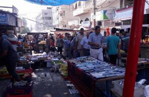 سوق مدينة دير البلح الشعبي