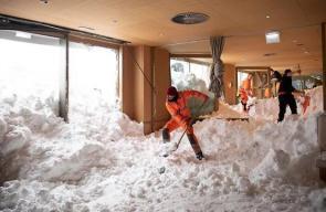 آثار العاصفة الثلجية على أوروبا