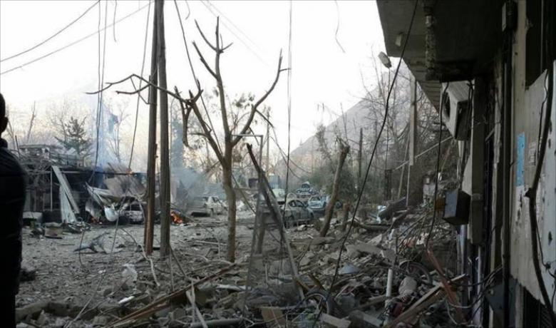 قصف سوري بريف دمشق وغارات روسية بريف إدلب