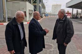الخضري يزور محطة توليد الكهرباء ويقترح حلولًا سريعة للأزمة
