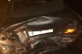 إصابة 11 مواطنًا بينهم 5 أطفال في حادث سير قرب نابلس