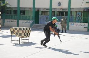 حماس تنظم مخيم فرسان فلسطين بالزوايدة