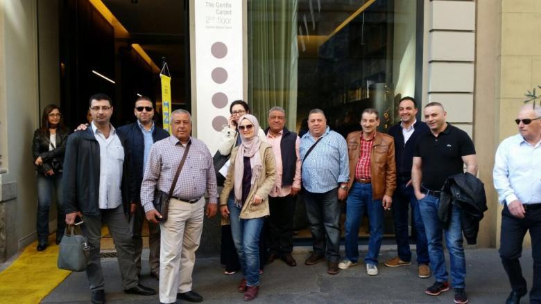 وفد من منتجي الأثاث بنابلس يختتم رحلة عمل لإيطاليا