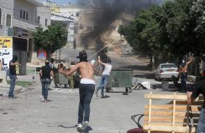 مواجهات بين الشبان والاحتلال في بلدة نعلين