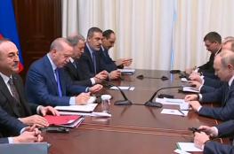 اجتماع بوتين وأردوغان على هامش مؤتمر برلين حول ليبيا