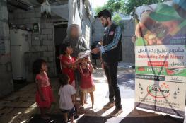 جمعية روّاد توزع زكاة المال على المحتاجين بغزة