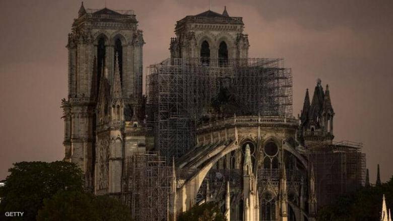"""بعد الكارثة.. """"مصدر غير متوقع"""" لترميم كاتدرائية نوتردام"""