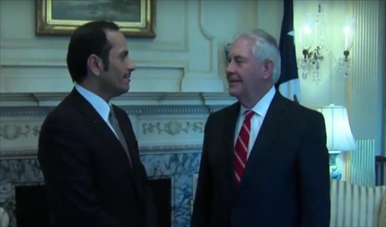 وزير خارجية قطر يلتقي نظيره الأميركي بواشنطن