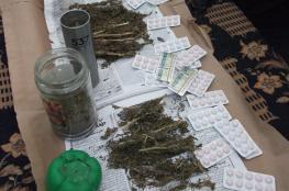 شرطة طولكرم تضبط موادًا مخدرة وتعتقل مشبوهين