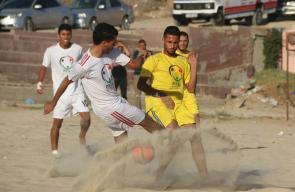 المباراة النهائية لبطولة الكرة الشاطئية في قطاع غزة