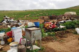 الاحتلال يهدم منشآت زراعية شرق طوباس