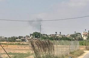 الطيران الحربي يستهدف بصاروخين موقع الشهيد محمد شمالي التابع للمقاومة شرق رفح
