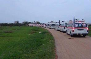 استكمال دخول الحافلات مع سيارات الإسعاف إلى إدلب الشمالي