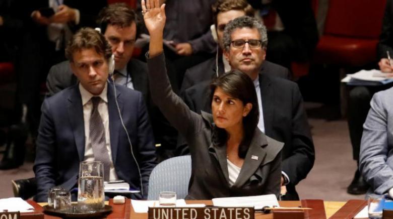 """هايلي تتهم الأمم المتحدة بـ """"ممارسة النفاق"""""""