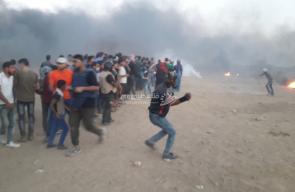 مواجهات موقع ملكة شرق مدينة غزة