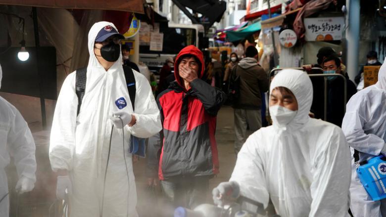 """عدد المصابين بفيروس """"كورونا"""" في كوريا الجنوبية يتجاوز 1100 شخص"""