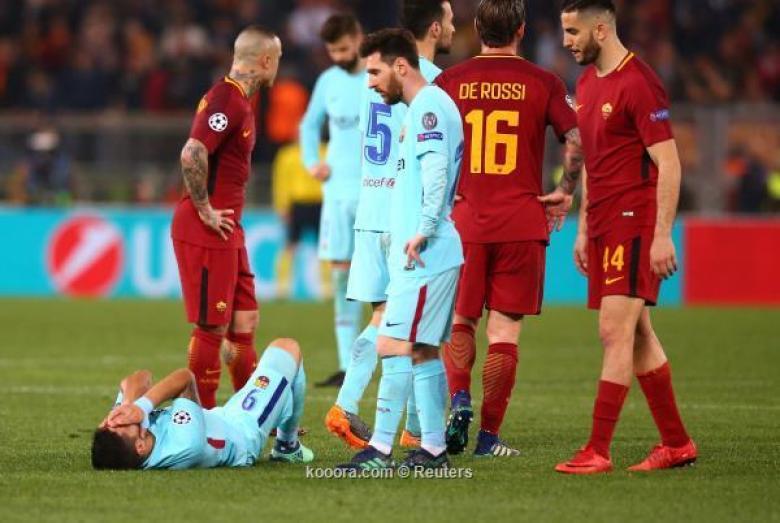 زلزال في الأولمبيكو.. روما يقصى برشلونة من ربع نهائي دوري الأبطال